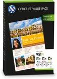 HP 951XL - Inktcartridge / Cyaan / Magenta / Geel / + Papier (CR712AE)