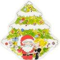 Blond Amsterdam Santa Kerstbord - Aardewerk