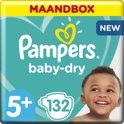 Pampers Baby Dry - Maat 5+ Maandbox 132 luiers