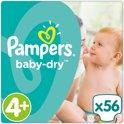 Pampers Baby Dry - Maat 4+ (Maxi+) 9-18 kg - 56 Stuks - Luiers