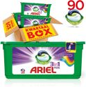 Ariel 3in1 PODS Colour&Style - Kwartaalbox 90 wasbeurten - Wasmiddel capsules