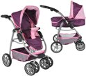 Bandits & Angels Purple Lady 3in1 poppenwagen