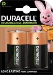 Duracell D Oplaadbare Batterijen - 2 stuks - 3000 mAh