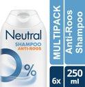 Neutral 0% Parfumvrij - 250 ml - Anti-Roos Shampoo - 6 stuks - Voordeelverpakking