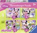 Ravensburger Disney Minnie Mouse - Vier puzzels (12+16+20+24 stukjes)