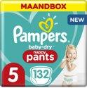 Pampers Baby-Dry Pants Luierbroekjes - Maat 5 - 132 Stuks