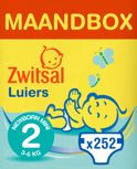 Zwitsal Maandbox Maat 2 (Newborn Mini) 3-6 kg - 252 stuks - Luiers