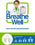 Dr. Breathe Well – 4 maten Anti Snurk Neusspreider – Helpt tegen snurken - Meer zuurstof - Beter slapen - Uitgeruster wakker worden
