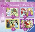 Ravensburger Disney Princess - Vier puzzels (12+16+20+24 stukjes)