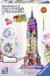 Ravensburger Empire State Building Pop Art - 3D Puzzel gebouw van 216 stukjes