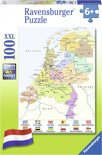 Ravensburger Nederland kaart CITO - Puzzel van 100 stukjes