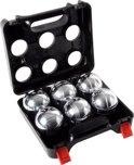 6 ballen in luxe kunststof transparante houder