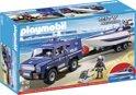 Playmobil Politietruck met Speedboot - 5187