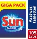 Sun Classic vaatwastabletten - 105 stuks