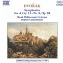 Dvorak: Symphonies no 4 and 8 / Gunzenhauser, Slovak PO