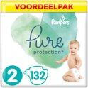 Pampers Pure Protection Luiers - Maat 2 (Mini) 4-8kg - 132 Stuks - Voordeelpak
