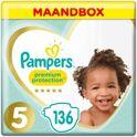 Pampers Premium Protection Luiers - Maat 5 (12-17 kg) - 136 Stuks - Maandbox