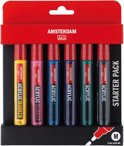 Amsterdam acrylmarker 6 stuks 4mm - basic