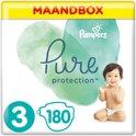 Pampers Pure Protection Luiers - Maat 3 (6-10 kg) - 180 Stuks - Maandbox
