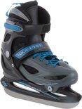 Nijdam 3024 Junior IJshockeyschaats - Verstelbaar - Hardboot - Grijs/Blauw - Maat 30-33