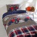 Day Dream Traktor John - dekbedovertrek - eenpersoons - 140 x 200 - Blauw