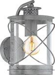 EGLO Vintage Hilburn 1 - Buitenverlichting - Wandlamp - 1 Lichts - Antiek Zilver
