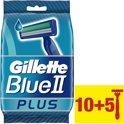 Gillette Blue II Plus - Ultragrip - 15 stuks - Wegwerpscheermesjes
