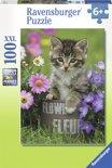 Ravensburger Kat tussen de bloemen - Puzzel van 100 stukjes