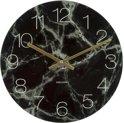 Karlsson Glass Marble medium - Wandklok - 43,5 x 5 cm - Glas - Zwart