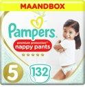 Pampers Premium Protection Luierbroekjes - Maat 5 (12-17 kg) - 132 Stuks - Maandbox