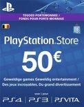 Belgisch Sony PlayStation Network PSN Giftcard Kaart 50 Euro België - PS4 + PS3 + PS Vita