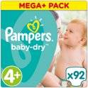 Pampers Baby Dry Mega Plus Box Maat 4+ - 92 stuks