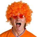Pruik Afro - Oranje