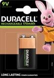 Duracell 9V Oplaadbare Batterij - 1 stuk - 170 mAh