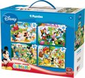 King Puzzel - 4 in 1 Koffer Mickey Mouse Clubhouse