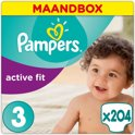 Pampers Active Fit - Maat 3 Maandbox - 204 Luiers