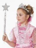 Prinsessen glitter tiara zilver voor meisjes