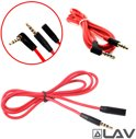 koptelefoon Aux Audio Kabel + verlengkabel 2M (3 in 1) + controller functies