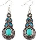 Fako Bijoux® - Oorbellen - Tibetaanse Stijl - Turquoise - Pendule