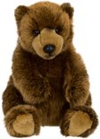 WWF Grizzly Beer Zittend - Knuffel - 23 cm