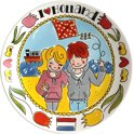 Blond Amsterdam I Love Holland Bord - Ø 26 cm - 'Strand'