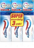 Aquafresh Complete Care original 3x75ml - Tandpasta