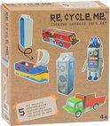 re-cycle-me knutselpakket met zuivelpakken voor jongens