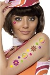 Flower power plak tatoeages