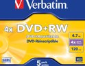 DVD+RW 4.7GB 4x Jewelcase 5st.