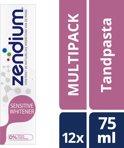 Zendium Sensitive Whitener - 12 x 75 ml - Tandpasta - Voordeelverpakking