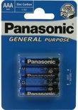 Panasonic AAA Zinc Carbon General Purpose | 4 stuks