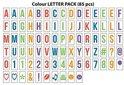Gadgy - Lightbox Letter Set – Extra set gekleurde letters & symbolen voor A4 Lightbox