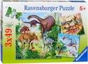 Ravensburger Puzzel 3x49 Stukjes - Fascinerende Dinosauriërs