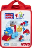 Mega Bloks First Builders - Zoomin Vehicles - 20 Stukjes - Constructiespeelgoed